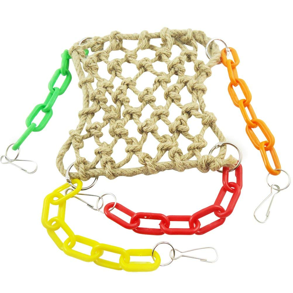 Home & Garden Bird Toys Precise Wooden Climbing Biting Brushed Straw Rope Colorful Bamboo Weave Cotton Rope Swing Cotton Rope Swing