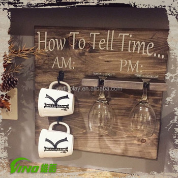 Coffee Cups Wall Mounted Holders For Kitchen Decorcustomized Rustic