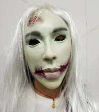Halloween Prop Weiß Haar Zombie Latex <span class=keywords><strong>Maske</strong></span>