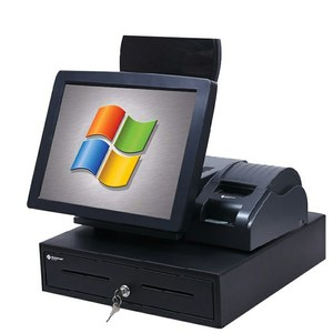 Hardware and software custom 15 inch touch screen windows pos terminal with printer