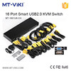 MT-VIKI 16 port auto usb2.0 kvm switch with19 inch frame key switch and Remote control MT-1601UK-CH