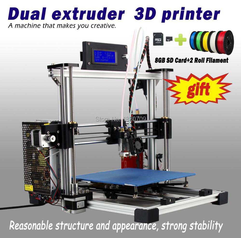 Newest Auto Leveling Dual Extruder 3D Printer Reprap