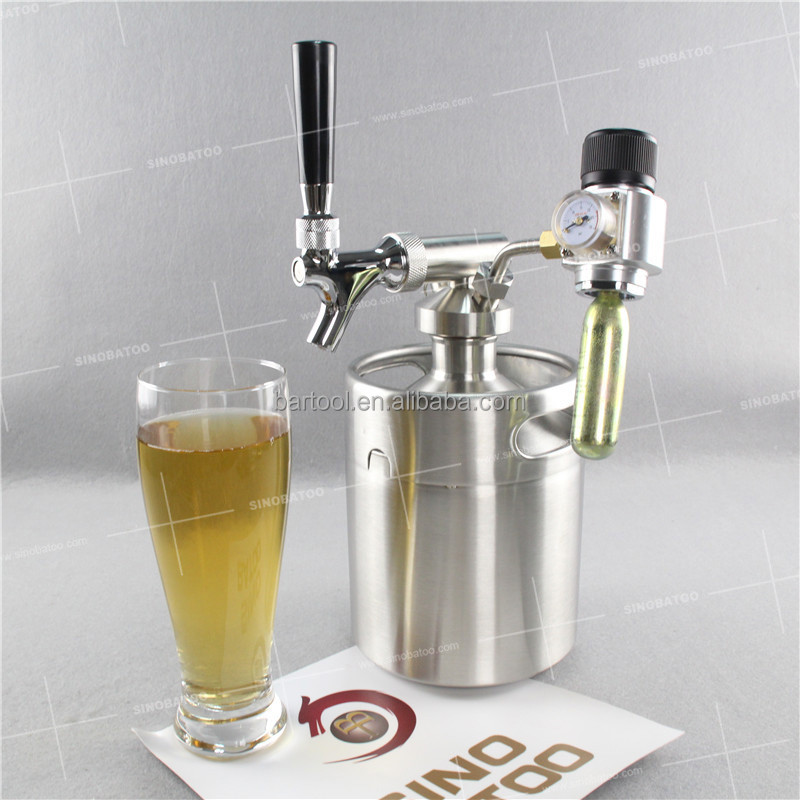 64oz Mini Keg Growler Beverage Dispenser Spigot - Buy Beverage ...