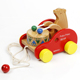 2017 new design wooden pull&push toy wholesale cheap educational toys for kids bear knock the drum on toy car