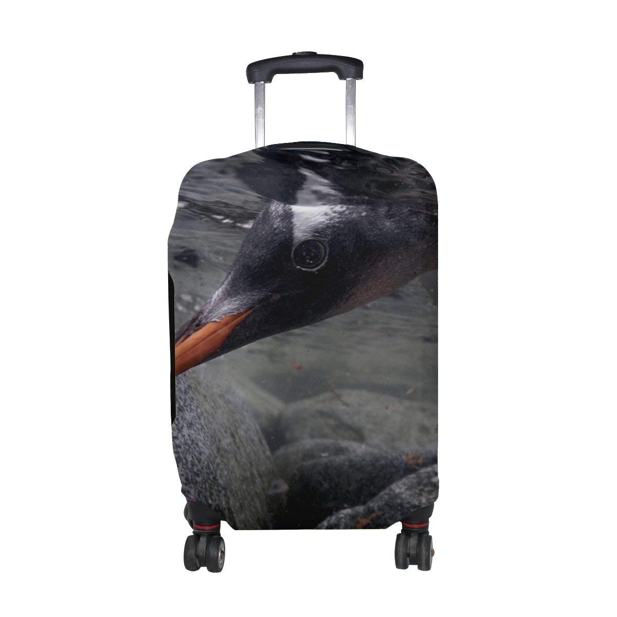 6271ae0f0 Get Quotations · Penguin Rocks Water Head Feet Pattern Print Travel Luggage  Protector Baggage Suitcase Cover Fits 18-