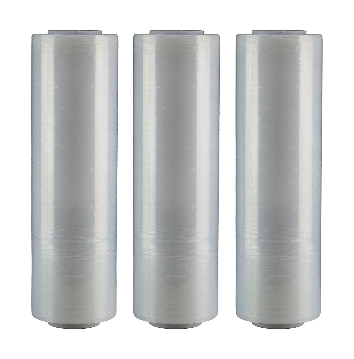 """AMERIQUE Shrink Wrap 3 Pack (4500FTX18"""", 30LBS Total): Stretch Film Plastic Wrap - Industrial Strength Hand Stretch Wrap, 18""""x 1,500 FT Per Roll, 80 Gauge Shrink Film / Pallet Wrap – Clear"""