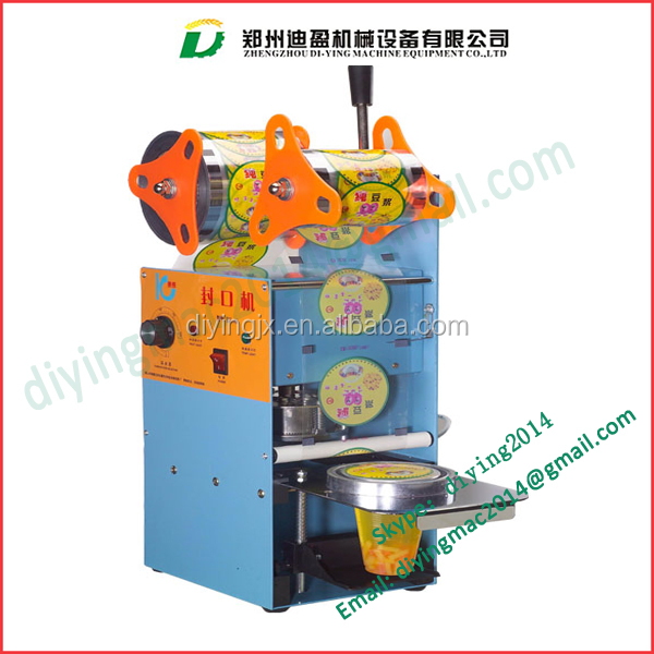 cup lid sealing machine/plastic cup sealing machine/Commercial cup sealer