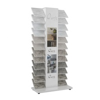 Waterfall View Sample Quartz Stone Display Stand Luminous Ceramic Tile Stone Floor display Stand Rack
