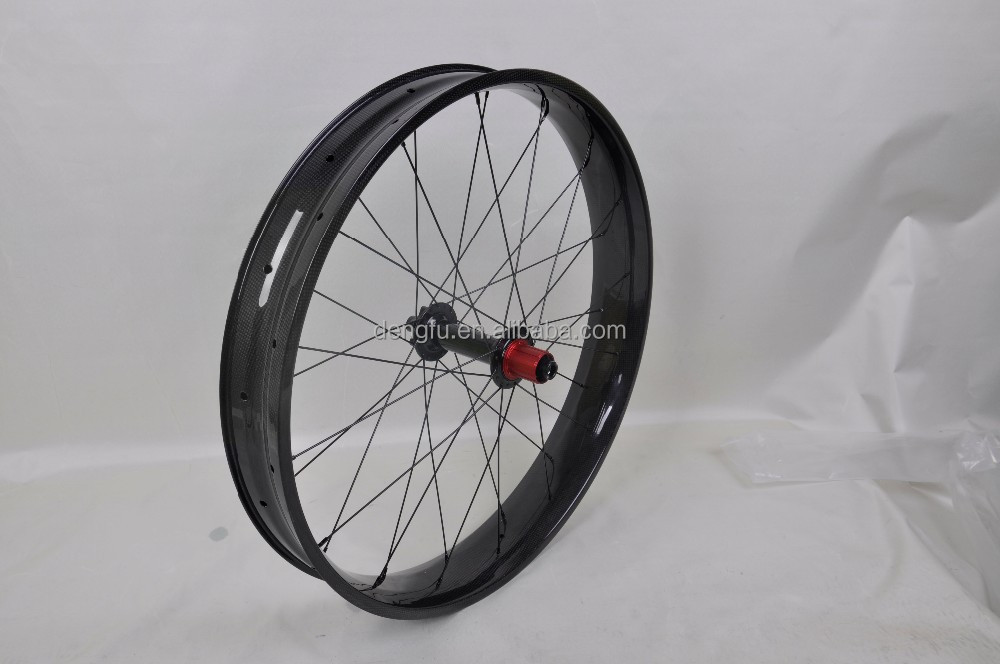 "2015 New Arrival 80mm Wide Carbon Fat Bike/Snow Bike Rim 26"" Wheels Rim Fat Bike Carbon"