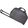 All-Seasons White Black Polka Dot 21-inch 22-inch Carry-On Rolling Duffel Bag