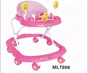 2016 Cheap Price Rubber Wheel Baby Walker with Round Base