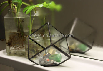 Stained Glass Small Cube Airplant Cactus Terrarium Buy Stained