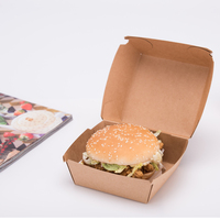 Custom Logo and Color Printing Burger and Fries Take Away Disposable Paper Cardboard Packaging Box