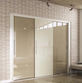 Cheap Modern Oak Solid Wood Laminated Wooden Sliding Door Bedroom Wardrobe Lockable Closet Kitchen