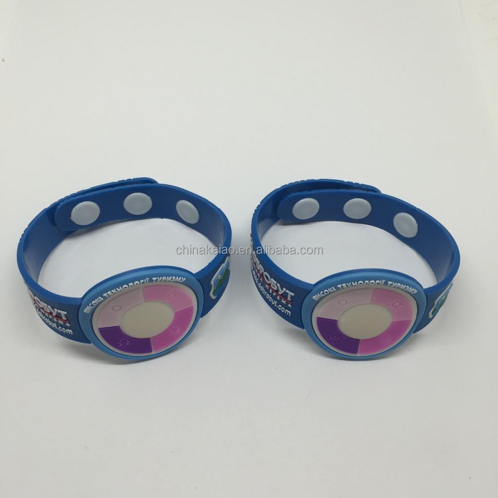 Caucho de silicona pvc uv tester wrist band uv sensor de for Caucho de silicona