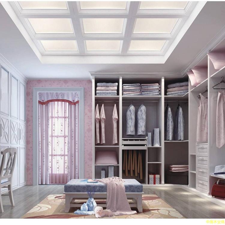 Modern Living Room Cabinet Design Sliding Mirror Door Walk In Wooden on