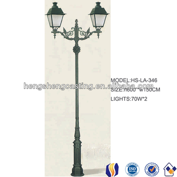 Outdoor Classic Decorative Yard Lamp Post With Two Lights