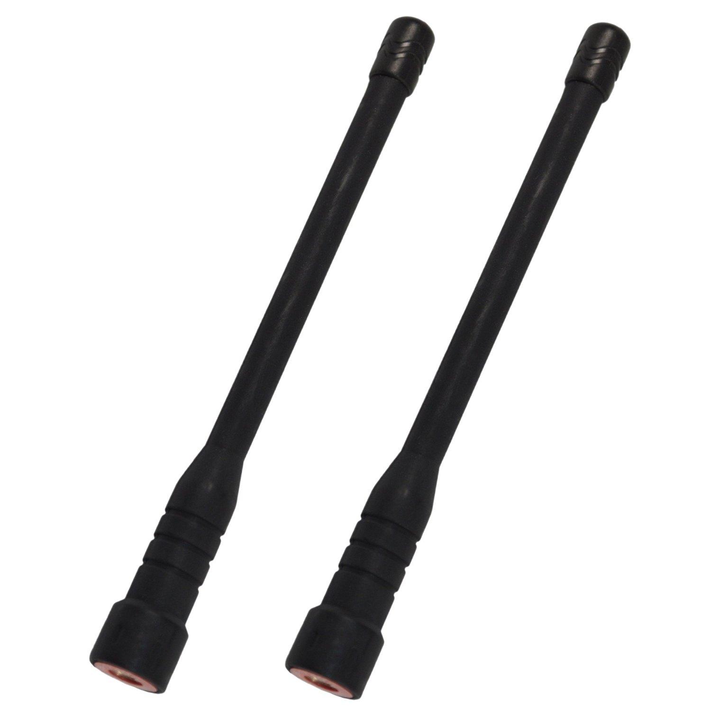 VX-354 Two-way Radio HQRP 2-Pack VHF High Gain Antenna for Vertex Standard VX-261 VX-264 VX-300 VX-350 VX-351 HQRP UV Meter