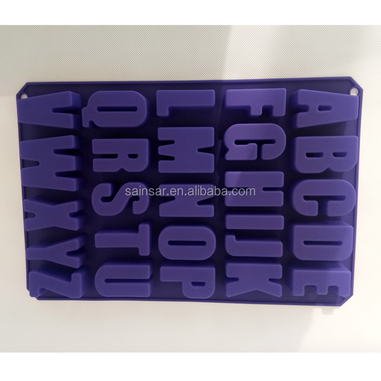 English Capital and Lowercase Letters Alphabet Silicone Mould For Students