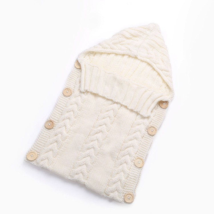 Wholesale cotton knitted baby swaddle wrap blanket