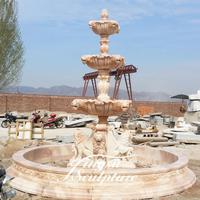 Outdoor decoration 3 tiers water fountains for small gardens