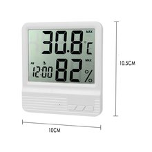 Indoor Digital Hygrometer/Humidity Gauge Thermometer, Room Temperature and Humidity Meter/Monitor/Gauge (White)