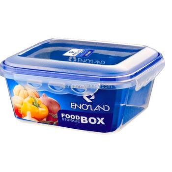 Bpa Free Plastic Rectangle Airtight Food Storage Box With Locking