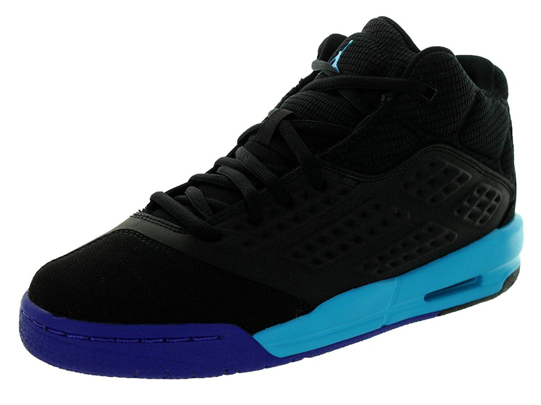 28da0ef16281 Get Quotations · Jordan Kids  New School (BG) Basketball Shoes-Black Blue  Lagoon