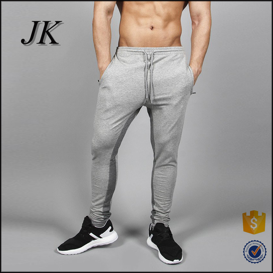 Guangzhou sportswear training gym running pants, polyester cotton blend fitness joggers
