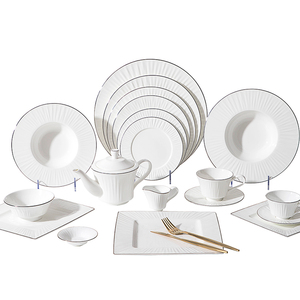 Amazon Best Selling Elegant Dinner Thali Set, Cafe Bone China Tableware$