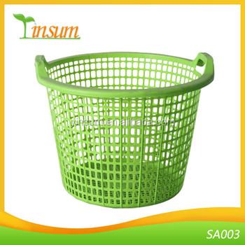 Plastic Laundry Linen Basket Bin Hamper