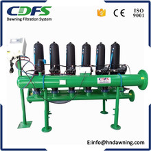 Irrigation water treatment filter automatic backwash disc filter