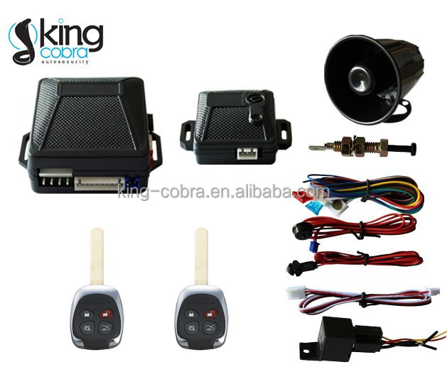 OEM car ignition security system 4 button remote control car alarm Spanish manual