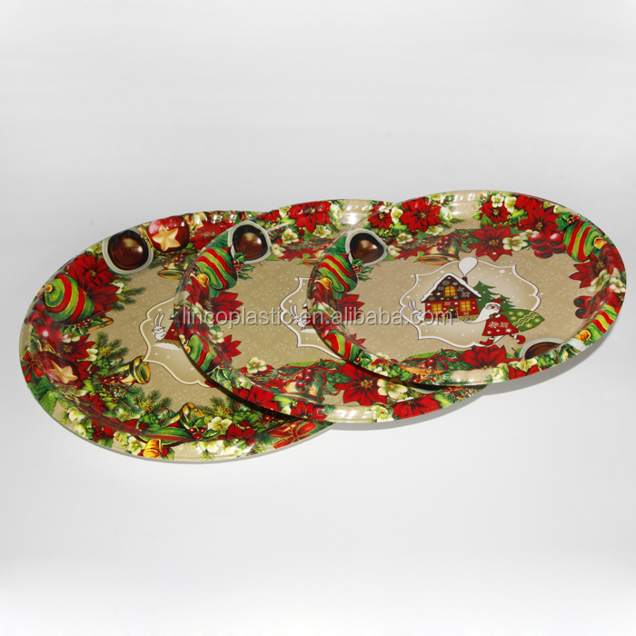 Wholesale Cheap Christmas round Plate