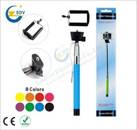 Colorful selfie stick with bluetooth shutter For iPhone for Samsung Smartphone Any Phones Camera