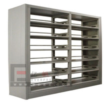 Modern school library furniture, metal wood combination library bookshelf