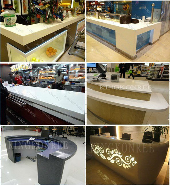 High Quality Customized Reception Counter Fast Food