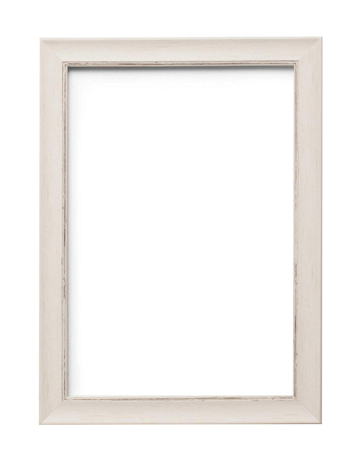 "Paintings Frames Sc1Ornate Shabby Chic Swept Picture Frame/Photo Frame/Poster Frame With An MDF Backing Board Hang-With Styrene Shatterproof Perspex Sheet Pictures 14""X11"" White Distressed"