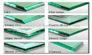 Custom Edge Beveled Tempered Glass Buy Custom Edge