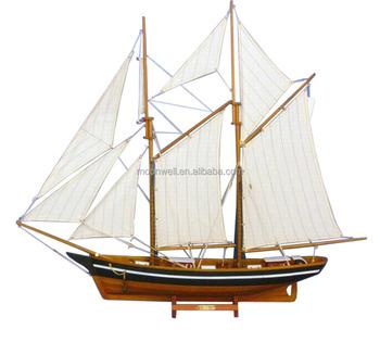 La belle poule wooden sailing boat model sailboat model for Decoratie zeilboot