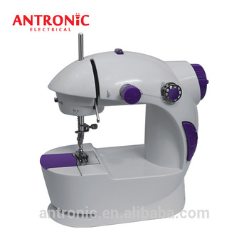 ATC-201 Household Mini Sewing Machine with guiding sewing cloth by hand