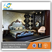 Wholesale extremely luxury italy style bedroom furniture bed set new design