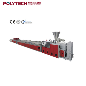 WPC Plastic Profile Extrusion Line For Wood - Plastic Compound Flooring Board Machine