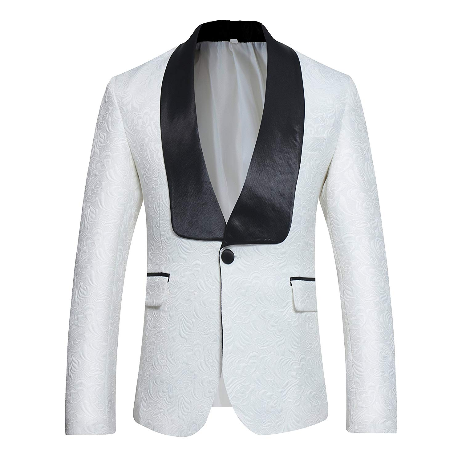 00ca6f05edf3 Get Quotations · Cloudstyle Mens Tuxedo Classic Blazer Patterned One Button  Prom Dinner Suit Jacket Sports Coat
