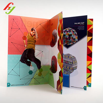 Professional Custom Design hot foil gold cheap brochure printing