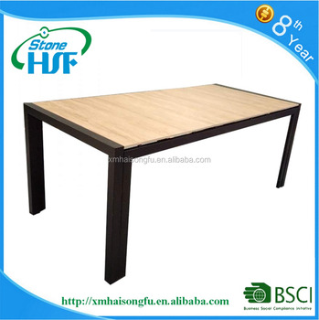 Outdoor Garden Dining Ceramic Tile Table With Iron Stand Product On