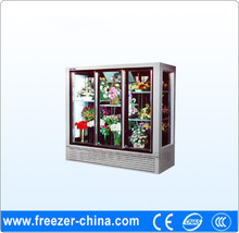Fancy design upright flower/floral display showcase chiller for flowershop