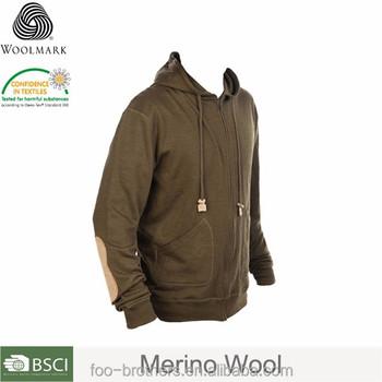 Merino Wool Full Zip Hoodie Sweater Base Layer men s merino wool hoodie aca3cd323