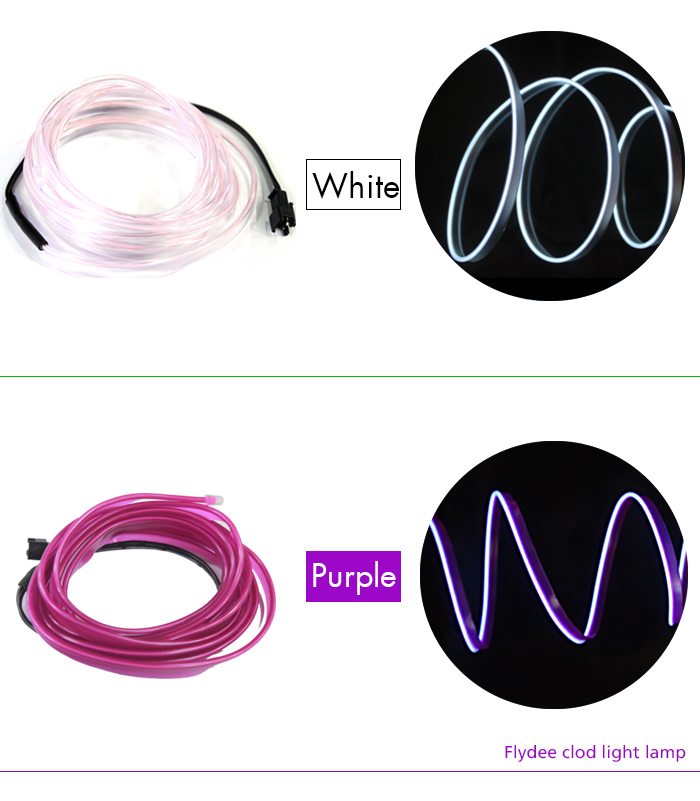 Led Colorful Strip El Wire Led Rope Light Cable For Car Decoration ...