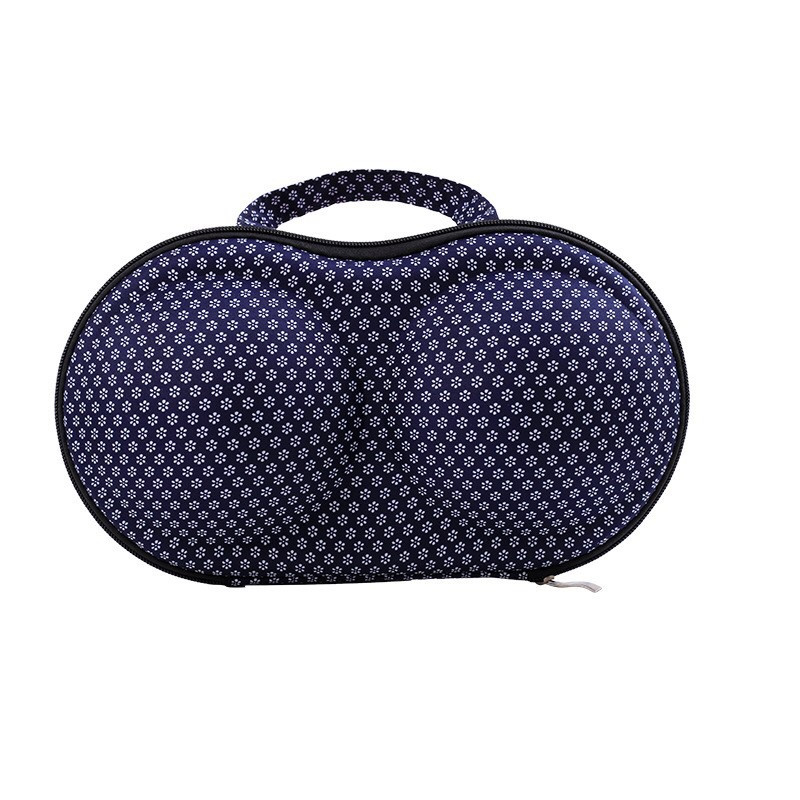 Fancy EVA Waterproof and Pressure-proof Portable Travel Portable Bra Shaped Bag Underwear Lingerie Bra Storage Case
